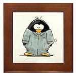 Mechanic Penguin Framed Tile