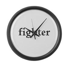 Fighter Large Wall Clock