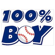100% Boy Wall Art Poster