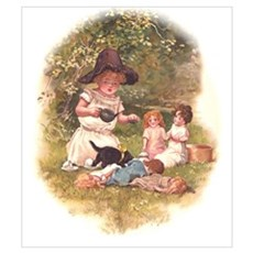Doll Tea Party Wall Art Poster
