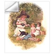 Doll Tea Party Wall Art Wall Decal