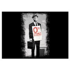 0% INTEREST (in people) Wall Art Poster