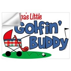 Grandpa's Little Golfin' Buddy Wall Art Wall Decal