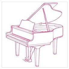 Pink Piano Wall Art Poster