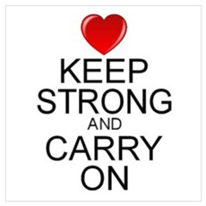 Inspirational Carry On Wall Art Poster