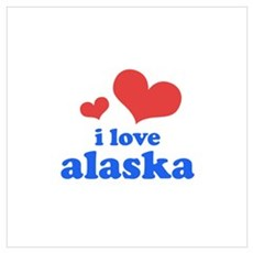 I Love Alaska Wall Art Poster