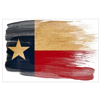 Texas Flag Wall Art Poster