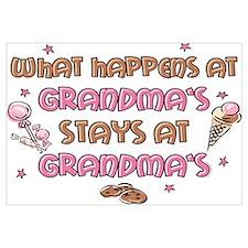 Treats Stays At Grandma's Wall Art