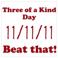 Three of a Kind Day Wall Art Poster
