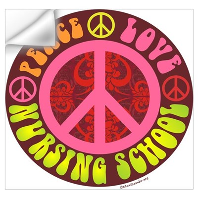 Peace, Love, Nursing School Wall Art Wall Decal