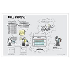Mini Agile Process Poster (Female) Poster