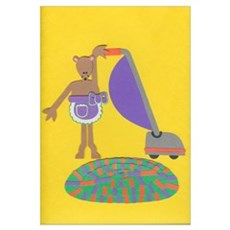 Violet Vole Wall Art Canvas Art