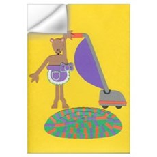 Violet Vole Wall Art Wall Decal