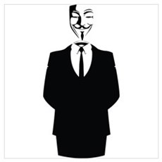Anonymous Guy Fawkes Suit Wall Art Poster