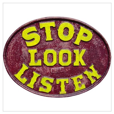 Stop, Look, Listen Wall Art Framed Print