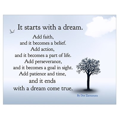 It Starts With a Dream Poster Poster