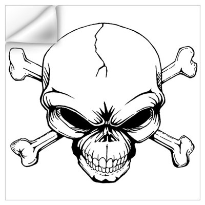 Skull and Crossbones Wall Art Wall Decal