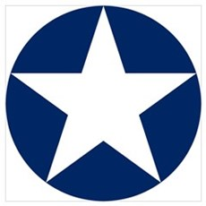 US Army Air Corps Roundel Wall Art Poster