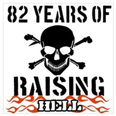 82 years of raising hell Wall Art Canvas Art