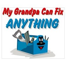 Fix Anything Grandpa Wall Art Poster