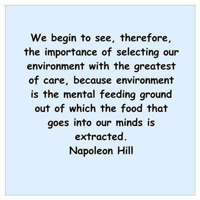 Napolean Hill quotes Wall Art Framed Print