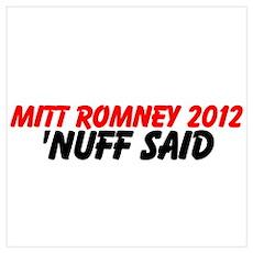 Mitt Romney Wall Art Poster