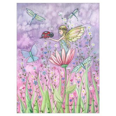 Cute Little Fairy Wall Art Poster