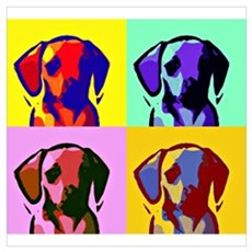 Pop Doxie Wall Art Poster