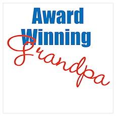 Award Winning Grandpa Wall Art Poster