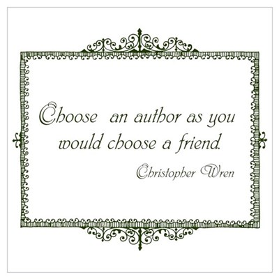 Books as Friends (Green) Wall Art Framed Print