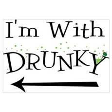 I'm With Drunky Wall Art Canvas Art