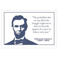 Lincoln / Struggle Wall Art Framed Print