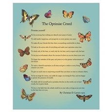 Optimist Creed Poster Canvas Art