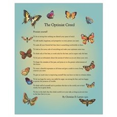Optimist Creed Poster Poster