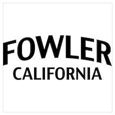 Fowler California Wall Art Poster