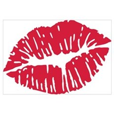 Kiss red lips Wall Art Poster