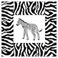 Zebra Wall Art Poster
