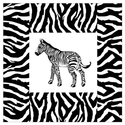 Zebra Wall Art Poster