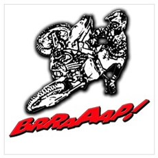 Dirtbike Brraaap Wall Art Poster