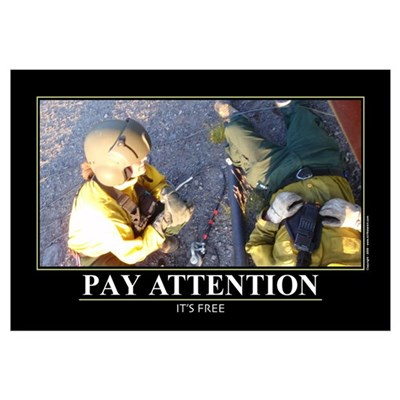 Pay Attention. Wall Art Framed Print