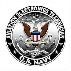 USN Aviation Electronics Tech Wall Art Poster