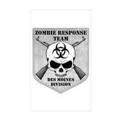 Zombie Response Team: Des Moines Division Decal
