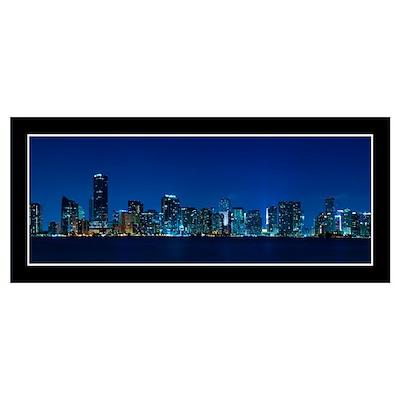 Miami skyline Wall Art Poster