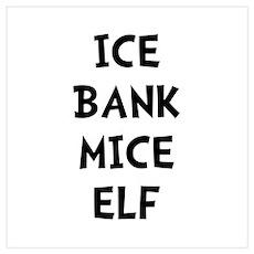 Ice Bank Mice Elf Wall Art Poster