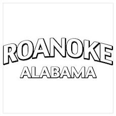 Roanoke Alabama Wall Art Poster