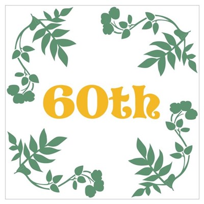 60th Birthday or Anniversary Wall Art Poster