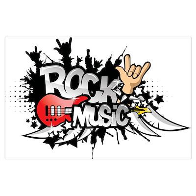 Rock music Wall Art Poster