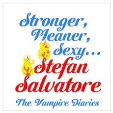 Sexy Stefan blue/red Wall Art Poster