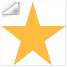 Five Pointed Yellow Star Wall Art Wall Decal