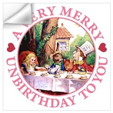 A Very Merry Unbirthday To You Wall Art Wall Decal